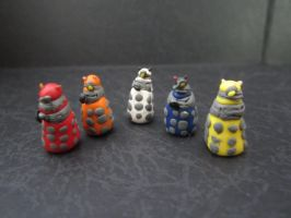Clay Daleks by sonickingscrewdriver