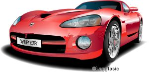 Dodge Viper Illustration by Laggtastic
