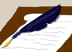 Inspiration feather (space feather) by ColdBlod23
