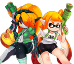 Squidna and Inkling by CheloStracks