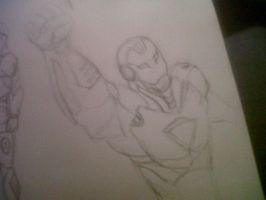 Iron Man Sketch 2 by TJGrey