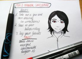 Pen and marker challenge by shindianaify
