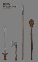 Iron Weapons (Arkh Project) by Shattered-Earth