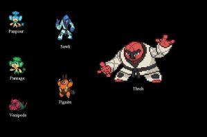 Pokemon Black Team 7.1.2011 by SpiderMatt512