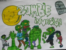 Zombie invasion by RebeccaG1999