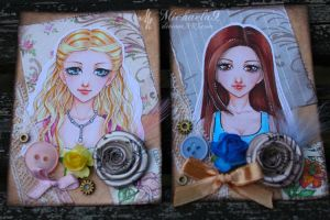 39. - 40. ACEO - Vintage portraits set 2 by Michaela9