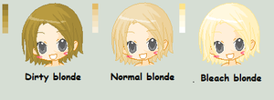 Blonde color pallet by TomisAnimals