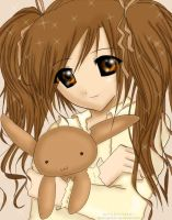 Brown Plush Rabbit Girl by Lightningmystix