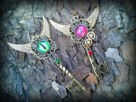 Dragon eye keys by ArtByStarlaMoore