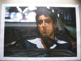 scarface car by benw99