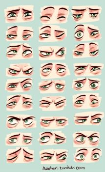 Eyes expressiveness study by Azeher