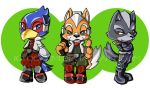 Star Fox, Star Wolf, and Falco by icyookami