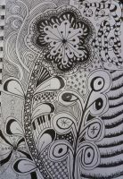 Flower Zentangle by Kaztangle