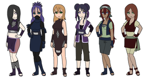 Naruto Ladies Adoptables 3 :SOLD OUT: by Thongchan