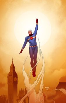 Miracleman 9 Variant cover by PaulRenaud