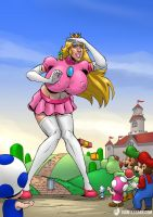 Super Princess Peach by giantess-fan-comics