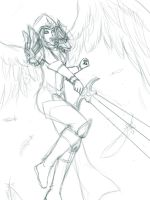 Judgment Kayle sketch by TeraMaster