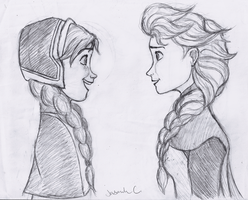 Anna and Elsa (Better Quality) by JasminSC
