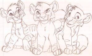 The three tiger cubs by KaiserTiger