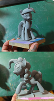 Twilight and Pinkie final WIPS by frozenpyro71