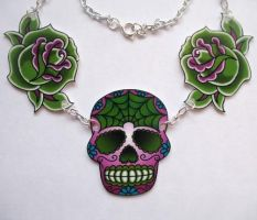 3 Charm Sugar Skull Roses by Horribell-Originals