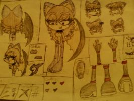 Colored Ref Sheet: Lilly the Bat by Shadow-Lillies