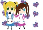Chibi NyoEngland and 2pNyoEngland by Bexie4ever1996