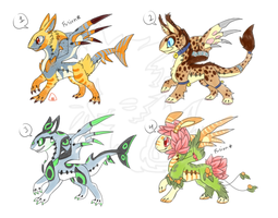 Dragoumplex adoptable batch 1 (closed) by onigiryStuff