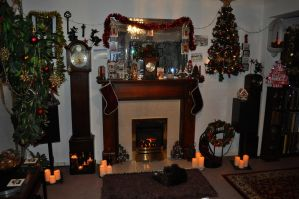 Christmas Fireplace 2016 by Forestina-Fotos