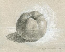 sour apple. pencil by lazygirl-29