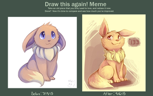Eevee Improvement Meme by honrupi