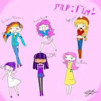 MLP: FIM Human Chibis :D by Snicket-Chan