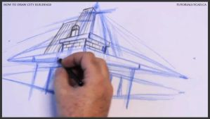 Learn how to draw city buildings 014 by drawingcourse