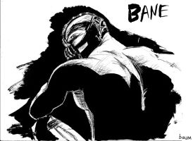 Bane ink drawing by bubbleduck