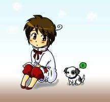 Chibile and Puppy by Nihui