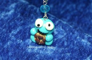 Cookie Monster Phone Strap by LoekazCharms