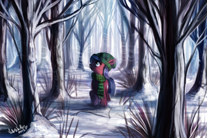 Snowy Forest by CuteSkitty