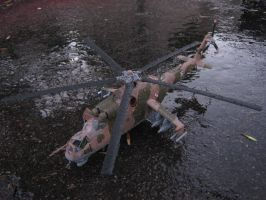 1/48 Scale MiL-24D Hind (Top) by Coffeebean2