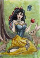 Snow-white by AmberStoneArt