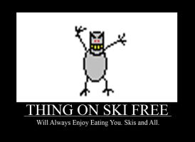 Thing From Ski Free by jak11d6