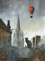 Cats from Josselin by sanderus