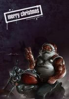 SantaClaus with Motorbike by abraaolucas
