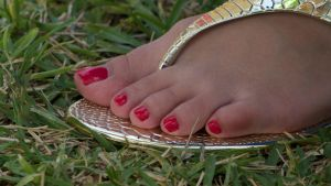 Demi's Toes in Red 2 by Feetatjoes