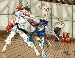 Street fighter combat by Ryds
