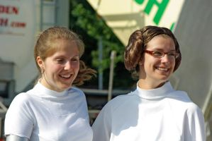 Padme and Leia at Kidsday by Applenaut