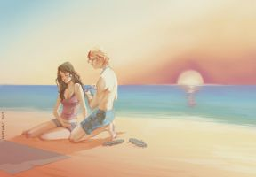 Annie and Finnick by martinacecilia