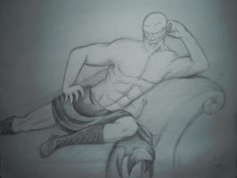 Sexual Offenderman pencil drawing by arcanineryu