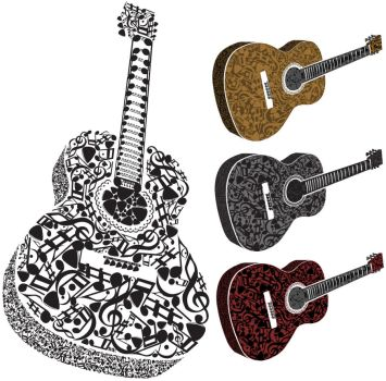 Patterned Guitars by KM-cowgirl