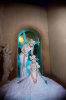 Princess Serenity and Queen Serenity by Sapphire-Melles