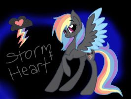 ++++DTA- Storm Heart++++ by Rainbow-ninja-adopts